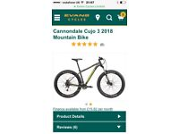 2018 Cannondale cujo 3 fat bike might p-exchange for mtb