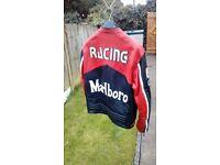 Marlboro leather motorbike jacket