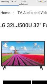 32 inch hd LG to black crack on screen