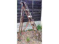 Ladders vintage wooden