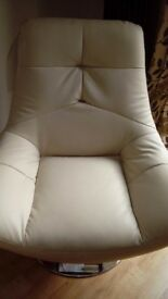 Hygena relax swivel cream chairs.