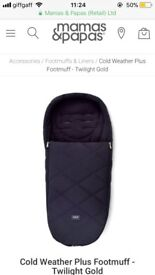Mamas and papas cold weather footmuff