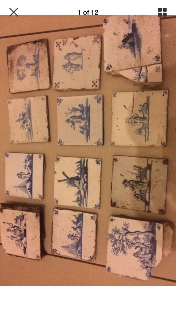 12 x collection of Original Delft tiles