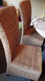 4 heavy wicker chairs