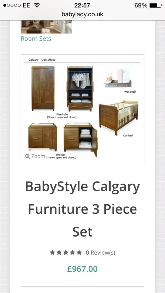 4 Piece Solid Wood Nursery Furniture Set Excellent