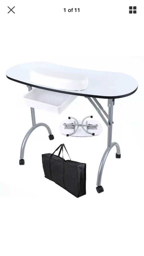 Portable Nail Desk With Carry Bag