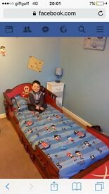 Boys wooden ship bed