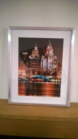 Iconic Liver Building Liverpool framed picture