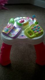 vtech activity table pink
