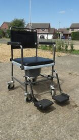 Indoor / Toilet Wheelchair - hardly used