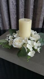 Artificial flower rings for candles perfect for weddings (x4)