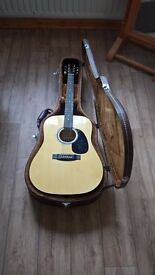 Handmade Electro-Acoustic Guitar And Leather Hardshell Case
