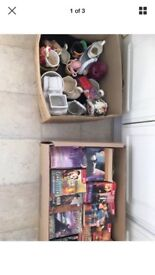 2 boxes of car boot items