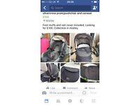 Pram/pushchair and car seat