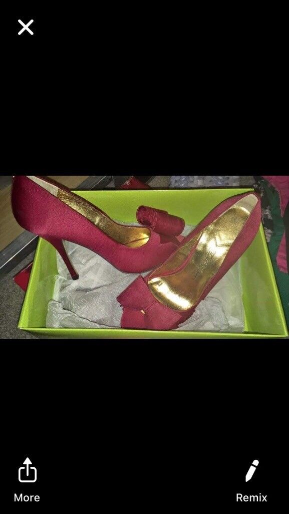 eb97f6e36dd4 Size 5 red satin ted baker heels