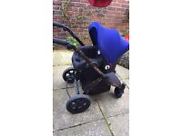 Blue ickle bubba 3 in 1 travel system
