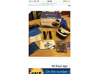 Psvr like new with 2 move controllers new camera and 2 vr games and vr head stand