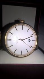 accurist gold plated gents watch