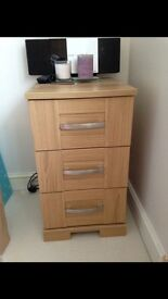 X2 bedside cupboards