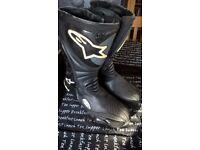 Motorcycle boots, Alpinestars size 40 (euro) 6-7 UK size