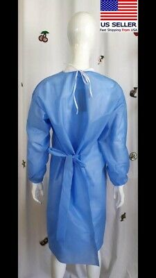 10 X Pcs Disposable Surgical Gown Workwear Protection Suit Isolation Gown