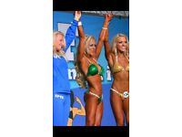 Emerald green competition bikini