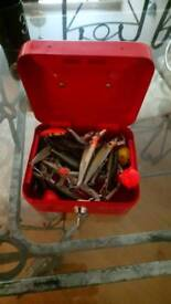 Box with fishing spinners