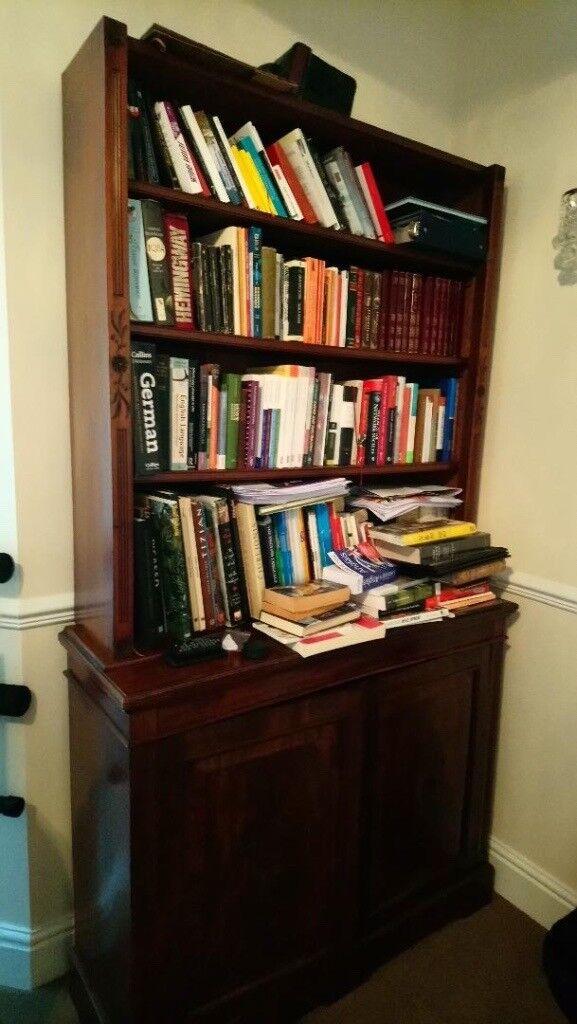 Antique Bookshelf Cabinet