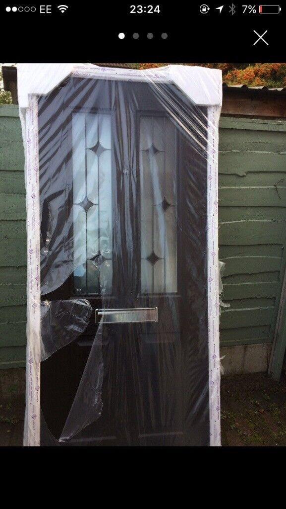 Black Composite rock door