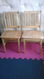 2 Solid Oak Chairs in good condition