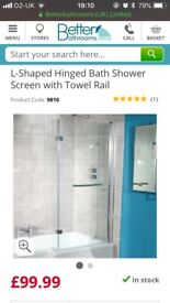 Brand New / Boxed L Dhape Shower Screen in Box !