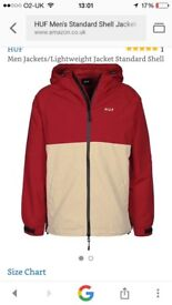 Mens large coat perfect condition HUF Fred Perry Hilfiger