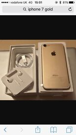 Iphone 7 Gold 32gb New condition