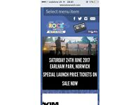 2 x Tickets for Let's Rock Festival Norwich