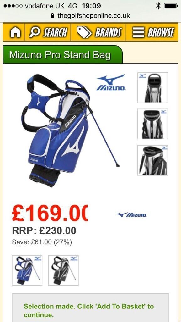 Mizuno golf bag brand new