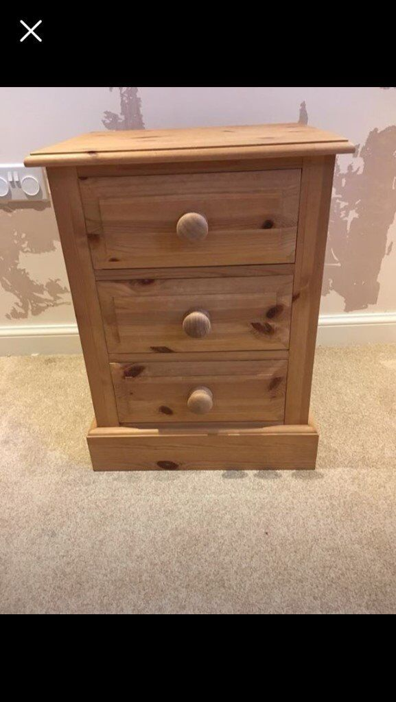 Bedside Draws/Table – Solid Pine