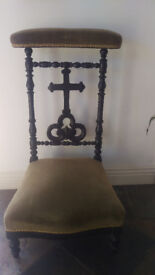 Prie Dieu Chair Antique Prayer Chair Stool OFFERS WELCOME!