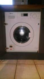 Neff V6320X1GB Integrated Washer Dryer, 7kg Wash/4kg Dry Load, B Energy Rating, 1400rpm Spin