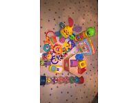 Baby toy bundle - shape sorter, talking book etc