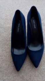 Ladies navy shoes size 7