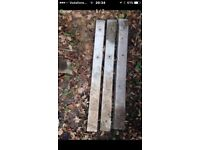 "Concrete fence post spurs 3 X 1200mm spurs for 4""wooden posts"