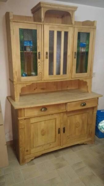 k chenbuffet antik jugendstil massiv holz schrank in nord hamburg barmbek ebay kleinanzeigen. Black Bedroom Furniture Sets. Home Design Ideas