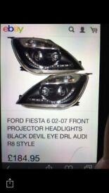 Ford fiesta devileye headlights