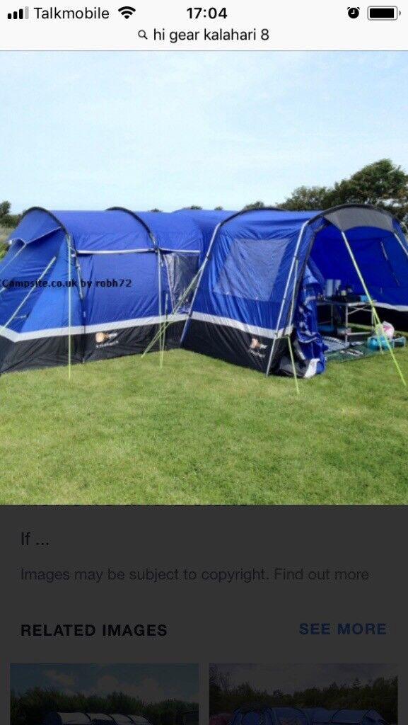 size 40 ba20c 04b38 Hi Gear Kalahari 8 man family tent with porch | in Washington, Tyne and  Wear | Gumtree