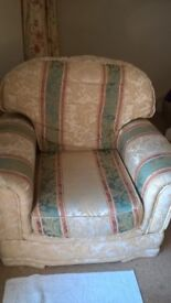 3 seat sofa, 2 seat sofa , arm chair and matching footstool