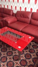 Dark red in good condition sofas