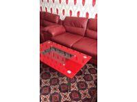 Dark red in good condition sofas