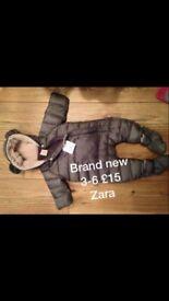 Brand new Zara snowsuit 3-6months