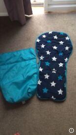 Mamas and papas blue stars foot muff