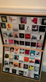 Pair large framed album cover pictures